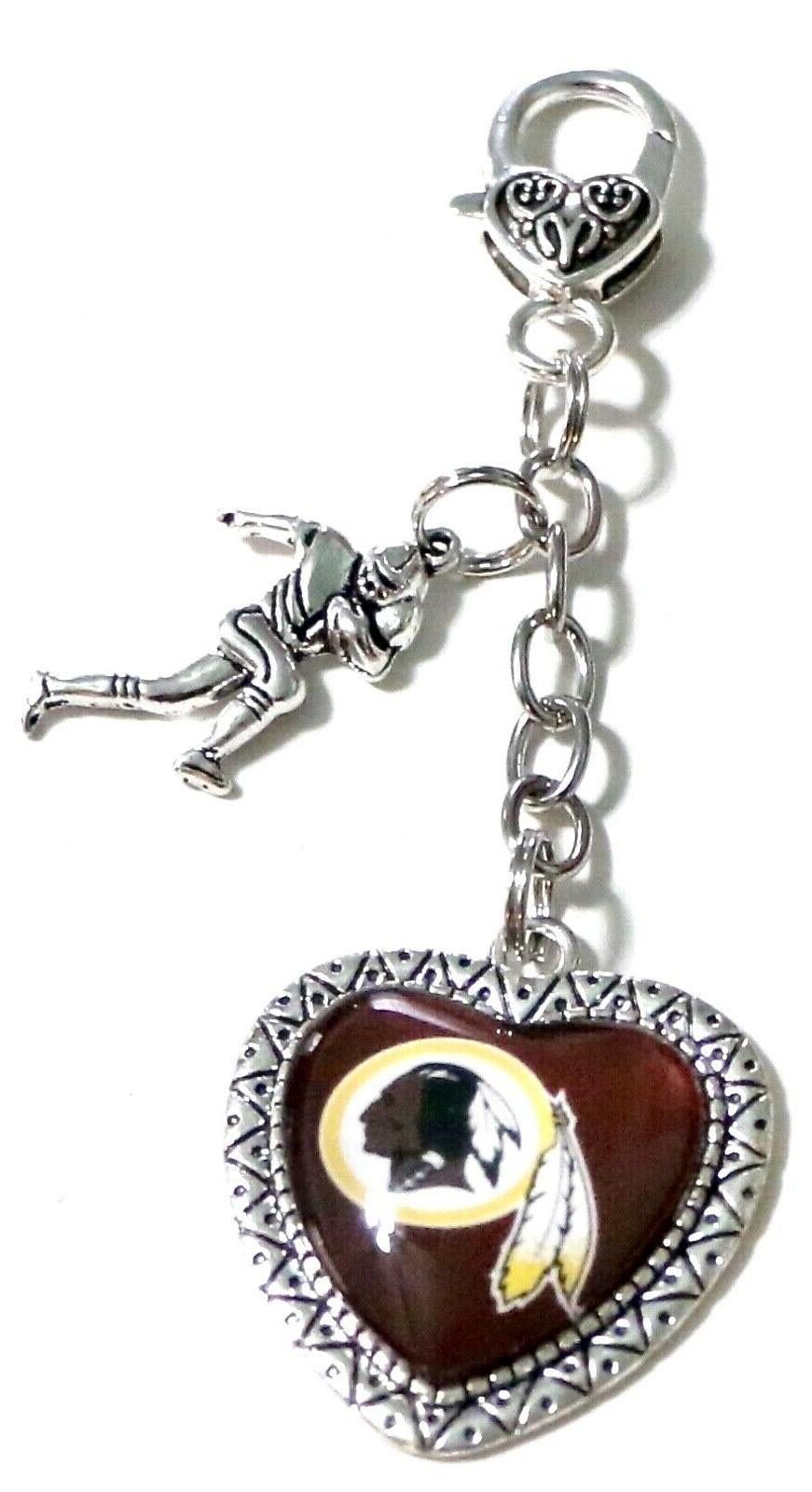 washington redskins purse charm