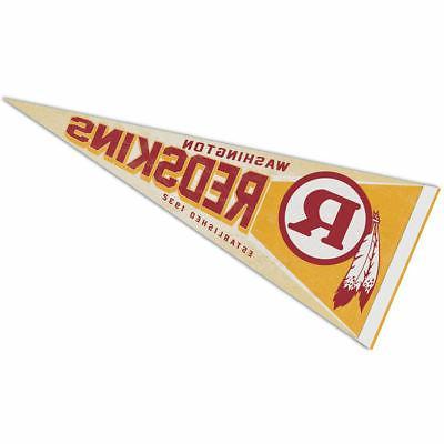 washington redskins retro vintage logo pennant flag