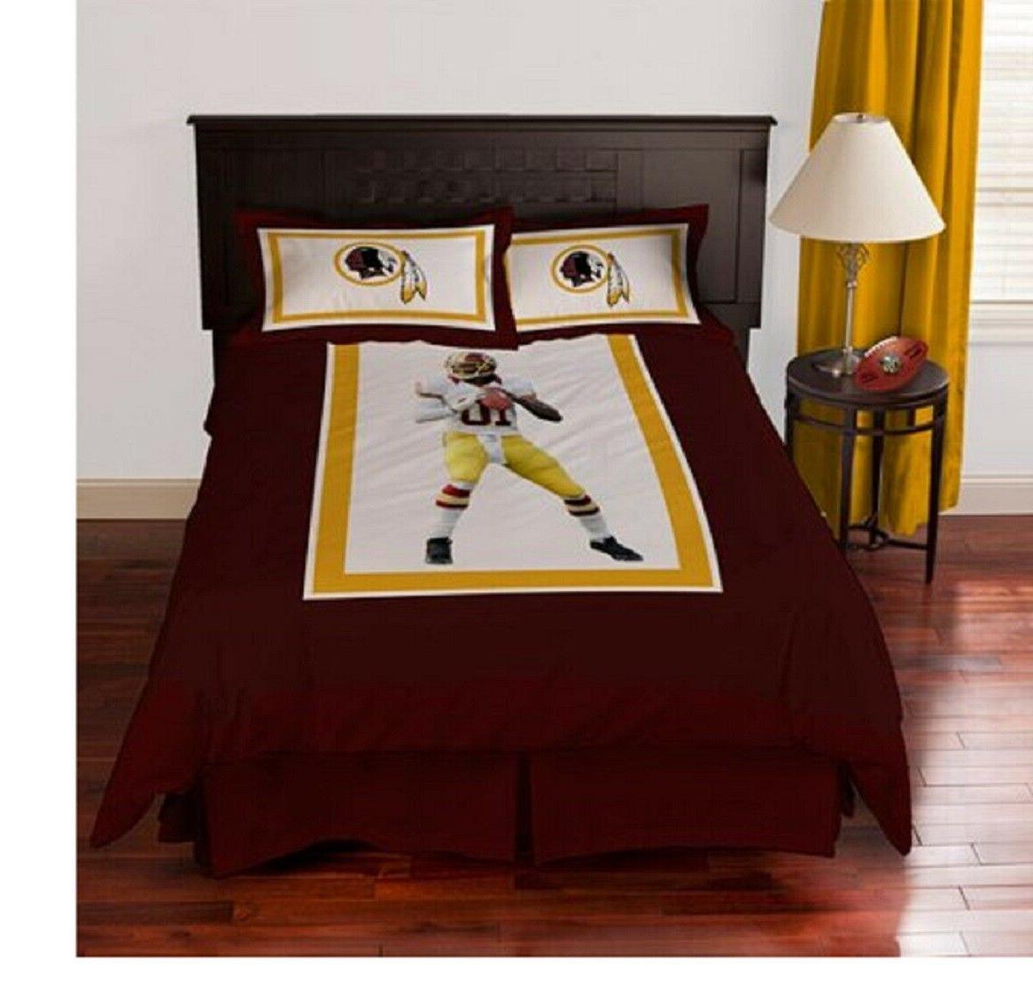 Washington Redskins Robert Griffin III 4-piece Comforter Set