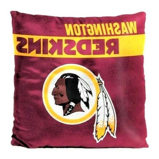 washington redskins throw pillow 18 x 18