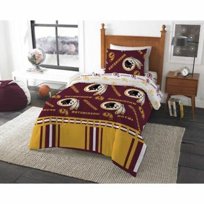 Washington Redskins NFL Twin 4 Piece Comforter Bedding Team