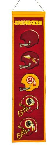 Washington Redskins Wool Heritage Banner