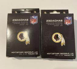 Lot of 2 NFL Washington Redskins Logo Bandages 50 Count Box