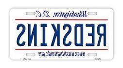 Metal Vanity License Plate Tag Cover - Washington Redskins -