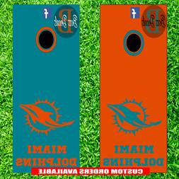 Miami Dolphins Cornhole Set of 6 Vinyl Decal Stickers Bean B