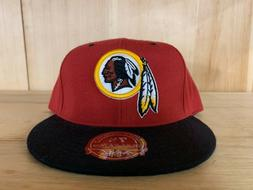 MITCHELL AND NESS WASHINGTON REDSKINS BLACK RED FITTED HAT C
