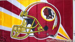 NEW 3x5 ft WASHINGTON REDSKINS HELMET BANNER FLAG Genuine NF