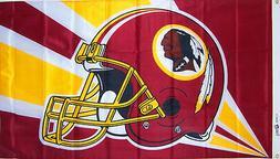NEW 3x5ft REDSKINS Helmet Logo FLAG genuine NFL Lic. USA sol
