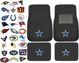 New 4pcs NFL Pick Your Team Car Truck Front Rear Back Carpet