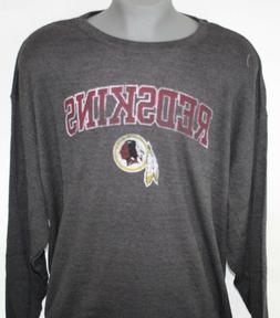 Mens NFL Team Apparel Washington Redskins Grey Long Sleeve B