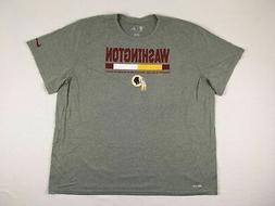 NEW Nike Washington Redskins - Gray Poly Short Sleeve Shirt
