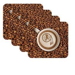 NEW WASHINGTON REDSKINS LATTEAM COFFEE ART 4pk COASTER SET P