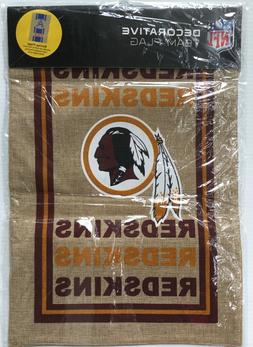 NEW Washington Redskins NFL Football 2-Sided Burlap Garden M