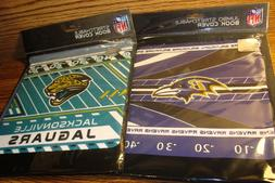 NFL #2  Fabric Book Covers * Jacksonville JAGUARS & Baltimor