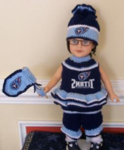 """HANDMADE NFL/CFL Team Clothing & Accessories FOR 18"""" GIRL DO"""