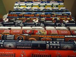 NFL Cotton Football Fabric - NFC Teams  1/4 Yard  9 inches x