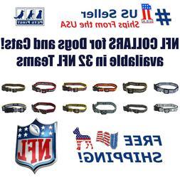 NFL Dog Collar - Heavy-Duty, Durable & Adjustable Football C
