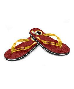 NFL Flip Flops Washington Redskins Womens Glitter Flip Flop