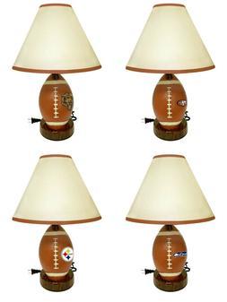 NFL Football Shaped Desk Lamp Nightlight with Team Logo Kids