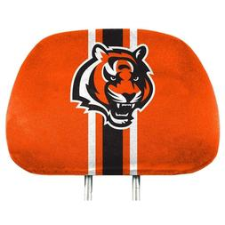 NFL Full-Print Head Rest Covers 2-Pack Choose: Jets, Bengals