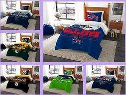 NFL Licensed 2 Piece Twin Comforter & Sham Bed Set In A Bag