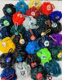 NFL Loofah Bath Sponge-NFL Team Exfoliating Shower Pouf-Ultr
