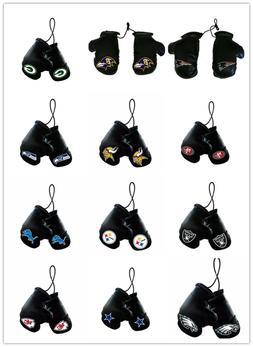 nfl mini boxing gloves rear view mirror