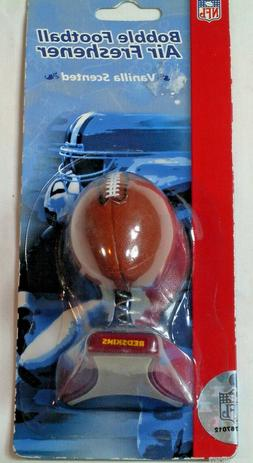 NFL NIP BOBBLE FOOTBALL VANILLA AIR FRESHENER - WASHINGTON R