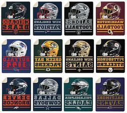 NFL PICK YOUR TEAMS Premium Super Soft Large Throw Blanket w