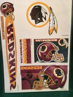 "NFL Washington Redskins 11""X17"" Sheet of  Multi Decals"