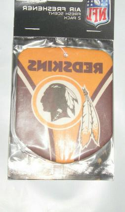 NFL WASHINGTON REDSKINS 2-Pack Air Freshener NEW NIP