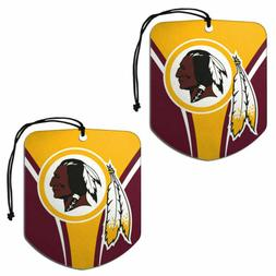 NFL WASHINGTON REDSKINS 2-Pack Air Freshener NEW NIP FREE SH