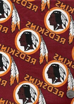 "NFL Washington Redskins 4 Pieces 12"" X 12"" Cotton Remnant"