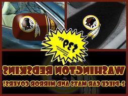 NFL Washington Redskins Car Mats & Mirror Cover Combo