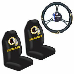 NFL Washington Redskins Car Truck 2 Front Seat Covers & Stee