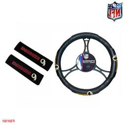NFL Washington Redskins Car Truck Steering Wheel Cover and S