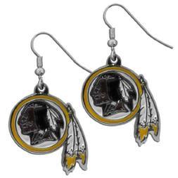 NFL Washington Redskins Chrome Dangle Earrings