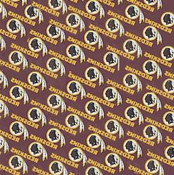 NFL WASHINGTON REDSKINS COTTON FABRIC MATERIAL, Fabric Sold
