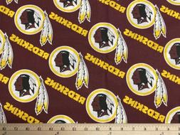 NFL WASHINGTON REDSKINS football, 1/4 Yard  100% Cotton Fabr