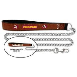 NFL Washington Redskins Football Leather Pet Leash, Large 1