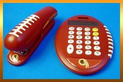 Pro Grip NFL Washington REDSKINS Football Stapler & Solar Ca