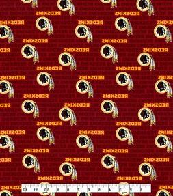 NFL WASHINGTON REDSKINS  MINI  PRINT 100% COTTON FABRIC  BY