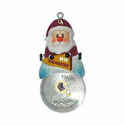 "NFL Washington Redskins Snow Globe Ornament, Silver, 1.5"""