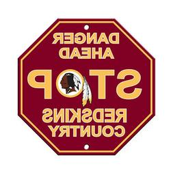 nfl washington redskins stop sign danger ahead