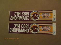 NFL Washington Redskins Vintage Lot of 2 1983 NFC Champions