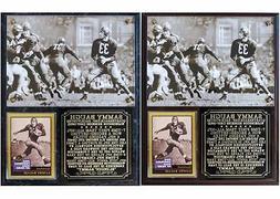 Sammy Baugh #33 Washington Redskins Legend HOF Photo Card Pl