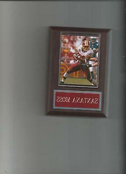 SANTANA MOSS PLAQUE WASHINGTON REDSKINS FOOTBALL NFL