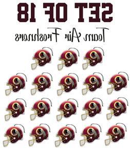 Set of 18 Washington Redskins Team Helmet Car Vehicle Room C