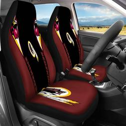 Set Of Two Washington Redskins Car Seat Covers Universal Fit