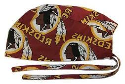 Surgical Scrub Hat Cap with Washington Redskins NFL Fabric N